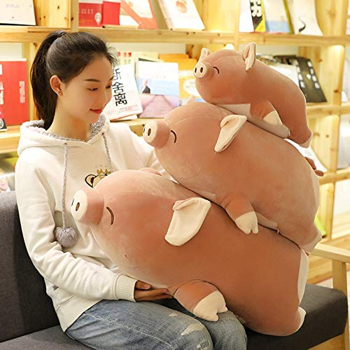 YGHBKL Fettschwein Plüsch Spielzeug Squishy Gefüllt Liegen Schweine Niggy Tiere Kissen Schlafen Freund Herz Geformt Arsch Kinder Freunde Geschenk 40/60cm 60cm -