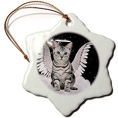 Merlin65Scott grau gestromt Katze Engel sitzend auf Einer -