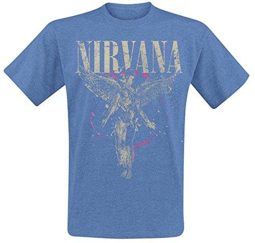 Nirvana In Utero T-shirt bleu chiné M