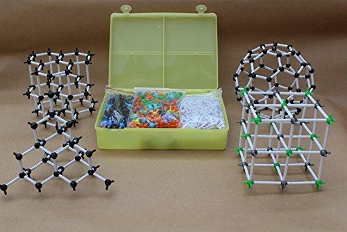❤️Vovotrade®Modèle de Structure cristalline moléculaire Ensemble de la Classe d'enseignement du modèle moléculaire de la Chimie Scientifique Scientifique Atome Bébés Jouet Éducatif Kids Toys
