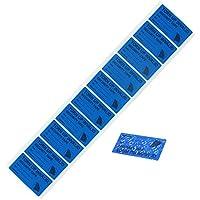 """100pcs etiquetas de seguridad evidentes antimanipulación, seguridad de andador solitario Prevenir las etiquetas vacías de garantía (1""""x2"""" marcado en cinta 100 piezas azul)"""