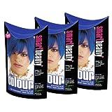 """Smart Colour Farbe semi-permanente Haarfarbe """"Electric Blue"""" x 3"""