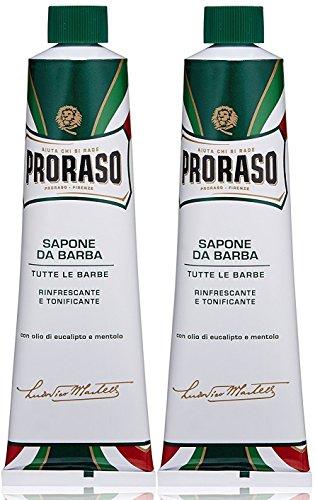Proraso 2 er Pack Proraso Green Rasiercreme Refresh Tube 150 ml -