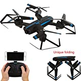 YMXLJJ Remote Drone Foldable Equipped With 2.0MP120° Wide-Angle HD Camera WIFI FPV Quadcopter