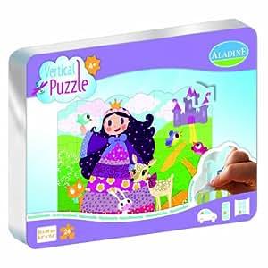 Aladine - 85302 - Vertical Puzzle - Princesse - 24 Pièces