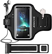 Galaxy S10/S9/S8 Armband, JEMACHE Gym Running Exercises Workouts Phone Arm Band Case for Samsung Galaxy S10/S9