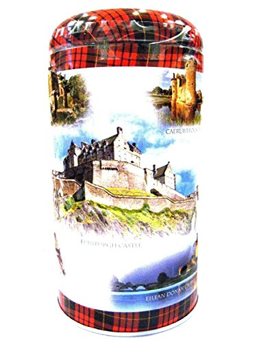 Campbells Chocolate Chip Cookies 175g Just For You Collection Round Tins - Scottish Castles