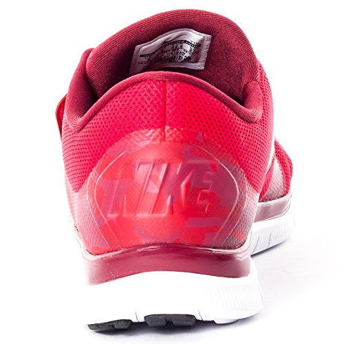 Nike Herren Free Socfly Laufschuhe, Orange / Rosa (Team Red/Metallic Gold-Gm Red)