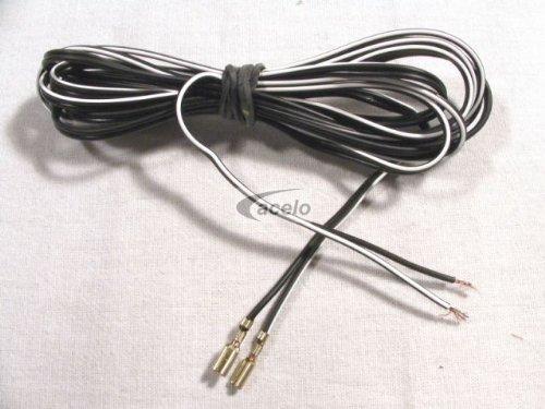 Doppelkabel mit Flachstecker ca. 210 cm Twin-Kabel (2 Phasen) mit Kabelschuhe / Flachstecker