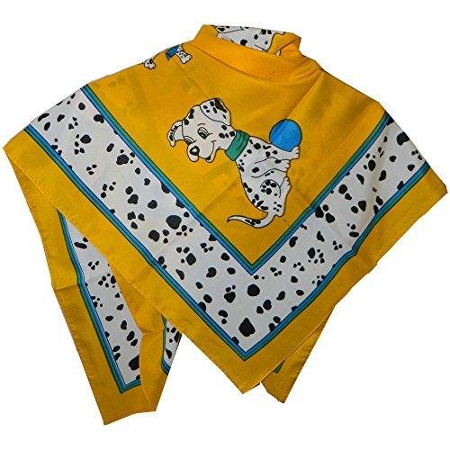 Halstuch Dalmatiner gelb 86x86cm Viskose Tuch Kopftuch Schultertuch Accessoire