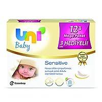 Uni Baby Sensitive Islak Pamuk Mendil 12li
