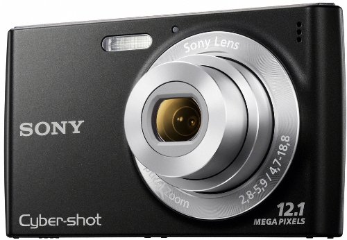 Sony DSC-W510B Digitalkamera (12 Megapixel, 4-fach opt. Zoom, 26 mm Weitwinkelobjektiv, 6,9 cm (2,7 Zoll) Display, bildstabilisiert) schwarz