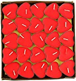 Heart Shape Tealight Candles | Red Color | Pack of 50