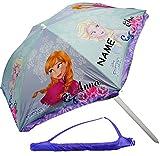 alles-meine.de GmbH Strandschirm / Sonnenschirm -  Disney Frozen - die Eiskönigin  - Incl. Name ..