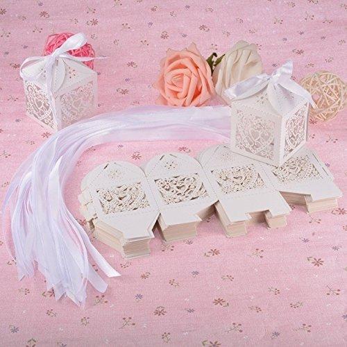 50pcs creative Love Heart laser Hollow Candy party nastro scatole regalo con wedding festival scatole di carta