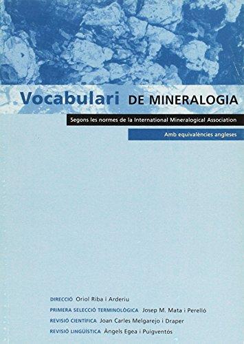 Vocabulari de Mineralogia por Oriol Riba i Arderiu