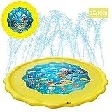Athyior Water Play Mat - Sprinkler Pad Sprinkle en Splash Play Mat 110-160 cm Speelkleed speelgoed voor Outdoor Tuin Strand Gazon Kinderen