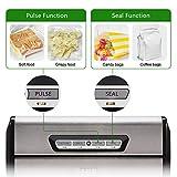 [Aktualisiert] Vakuumierer, Crenova VS100S - Vakuumiergerät für Nahrungsmittel, manuelle Pausenfunktion für brüchige Lebensmittel, +10 gratis Profi-Folienbeutel - 4
