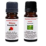Gardens of Aroma - Hibiscus 10ml Essential Oils. Arachis Essential Oil 10ml, Luxurious and Premium, High Quality, and Undiluted, Organic and Therapeutic Grade - Exceptional Choice for Aromatherapy, Massage and Aroma Diffusers - Suitable for All Skin Types - Use for Hair Care and Skin Care.