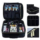 Make-up-Koffer Make-up Reisetasche, MLMSY Kosmetiktasche mit Gold Zipper Make-up Pinsel Organizer Portable Wasserdichte große Make-up Tasche Kulturbeutel für Frauen oder Männer (Klein)