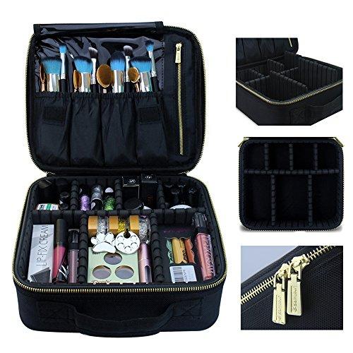 MLMSY Make-up-Koffer Make-up Reisetasche, Kosmetiktasche mit Gold Zipper Make-up Pinsel Organizer Portable Wasserdichte große Make-up Tasche Kulturbeutel für Frauen oder Männer (Klein)