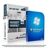 Microsoft Windows 7 Professional (PRO). Original-Lizenz. 32 bit & 64 bit. Deutsch. MS Audit Sicher + ISO DVD, Lizenz. Inkl. Papiere, Zertifiziert Bild