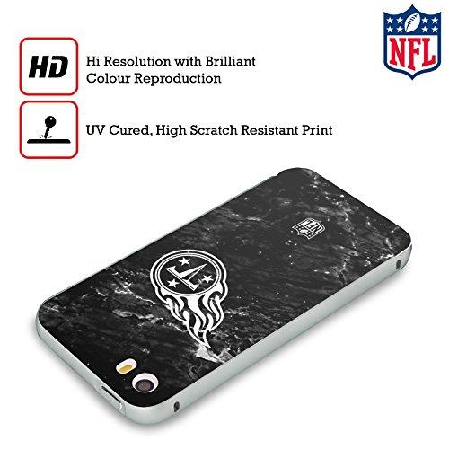 Ufficiale NFL Marmo 2017/18 Tennessee Titans Argento Cover Contorno con Bumper in Alluminio per Apple iPhone 5 / 5s / SE Marmo