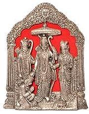 Fashion Bizz Antique Lord Ram Darbar Idol in White Metal