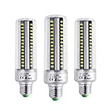 BOGAO E26/E27 96 LED 5736 SMD 25 W LED Mais Lampe, Ersatz Glühbirnen, energiesparend Home Leuchtmittel Lampe mit Abdeckung 2000 Lumen, AC230 V, nicht dimmbar (3 PCS,weiß)