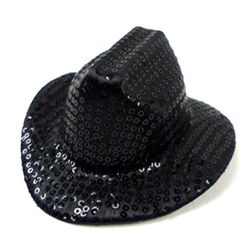 Schwarzes Mini Cowboy Hut - Hut Herren Damen mini Huete scjwarz