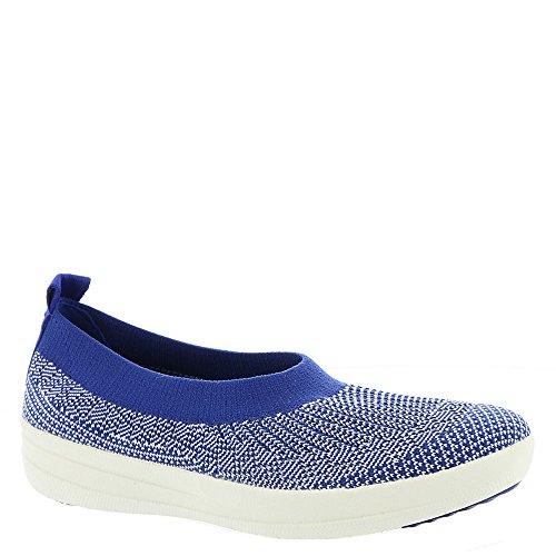FitFlop Uberknit Slip-on Ballerina Schuhe Mazarine Blue White Mazarine Blau / Weiß