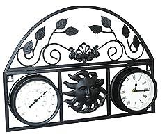 Idea Regalo - kingfisher decorativo da parete, con orologio e termometro
