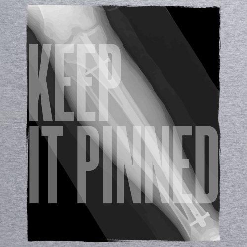Keep It Pinned T-Shirt, Herren Grau Meliert