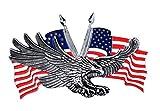 Emblema Adesivo Metallo Eagle US in rilievo Biker Custom