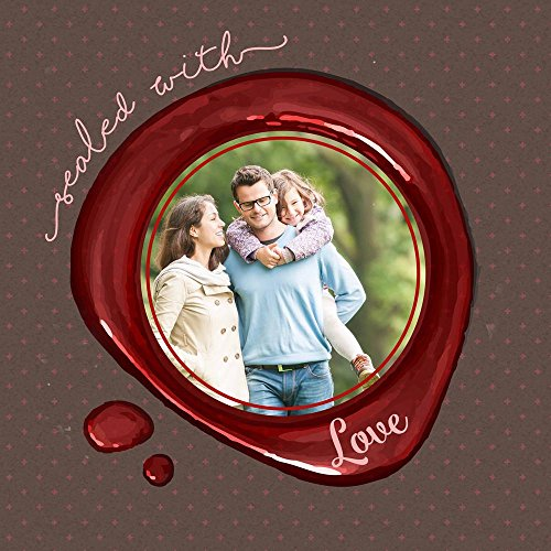ArtzFolio AZ Sealed with Love Unframed Photo Collage Personalised Gift 16 x 16inch