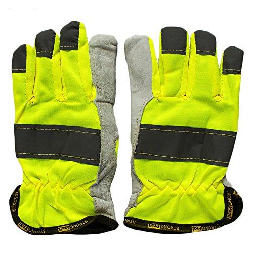 Ziegenleder-treiber Handschuhe (Ziegenleder Treiber Handschuhe mit reflektierendem Streifen)