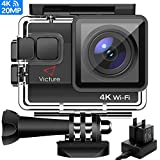 Victure AC800 Cámara Deportiva WiFi 4k Ultra HD 20MP Action Camera Acuatica de 40M con 2...