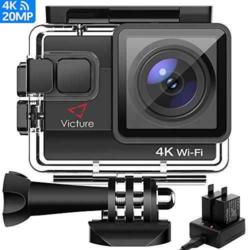 Victure AC800 Cámara Deportiva WiFi 4k Ultra HD 20MP Action...