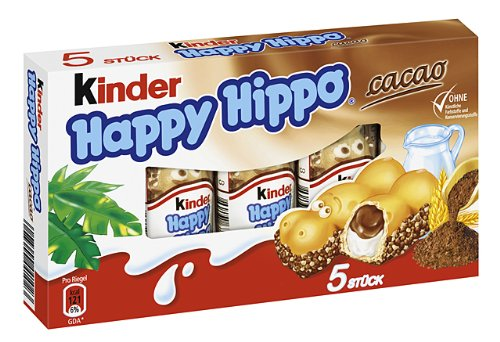 Kinder Happy Hippo Snack Cacao, 1er Pack (1 x 103g) (Kind Milch Kostüme)