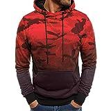 BaZhaHei Männer Langarm Camouflage Hoodie Kapuzen Sweatshirt Top Tee Outwear Bluse Tarnung Lange Ärmel Mit Kapuze Mantel Sweatshirt