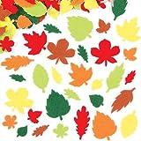 Filzaufkleber - Blätter - Sticker Set zum Basteln für Kinder und als Dekoration - ideal für den Herbst - 144 Stück