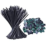 NOUVCOO 500Pcs Zip Ties, de Cable Autobloquant Liens Nylon Zip Cable Ties (100/150 / 180/200 / 300 mm) (NV03)