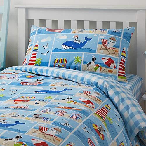 Bedlam Patch Seaside Kinder Bettbezug Set, Einzelbett, Polyester-, Multi, 200x 140x 1cm - Bettwäsche Patch