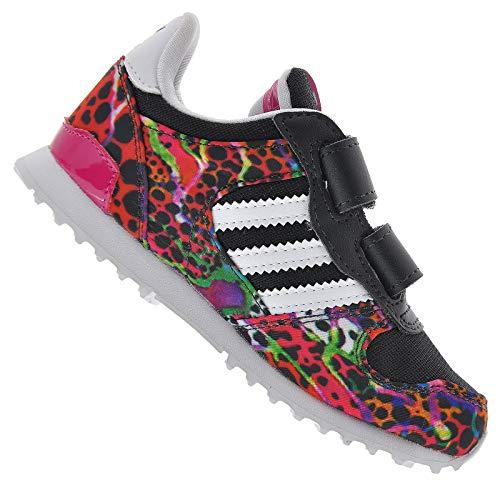adidas ZX 700 Flux Kinder Mädchen Sneaker Turnschuhe Pink Leopard Blumen 23,5 24, Farbe:Pink, Schuhgröße:EUR 23 1/2 (Adidas Kinder Blume)