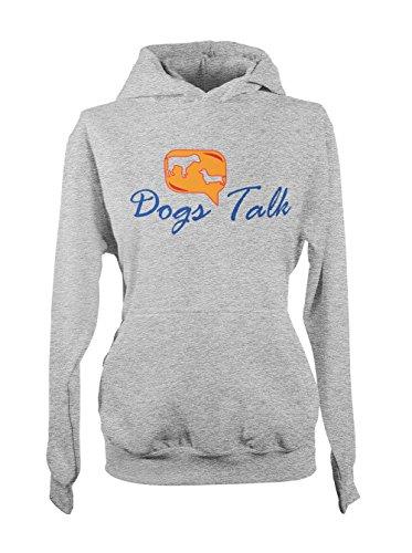 Dogs Talk Amusant Pet Femme Capuche Sweatshirt Gris