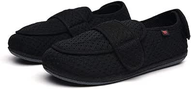 Scarpe Ortopediche Elasticizzate,Lose geschwollene Fußschuhe für ältere Menschen, Spezialschuhe für Spezialfüße,Sandali Donna Pantofole