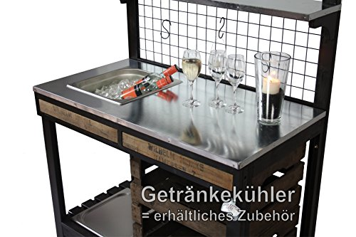 Outdoorküche PICO mit Edelstahl-Einbaugrill, Grilltisch, Bartisch ...