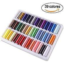 GHB 39 Hilos de Coser Hilos de Bordar de Poliéster para Costura 39 Colores