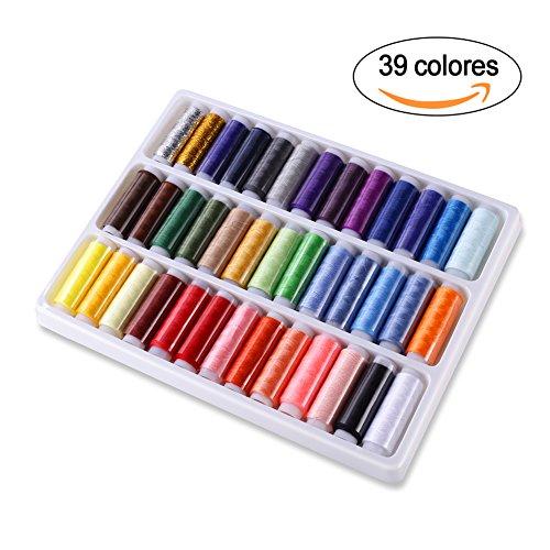 GHB-39-Hilos-de-Coser-Hilos-de-Bordar-de-Polister-para-Costura-39-Colores