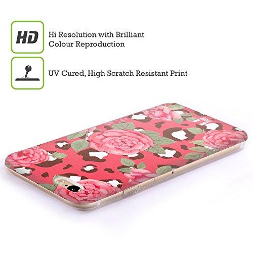 Head Case Designs Loup Animaux Aztèques 3 Étui Coque en Gel molle pour Apple iPhone 7 / iPhone 8 Fleurs De Léopard